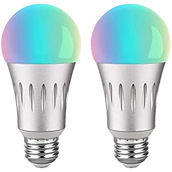 smart bulb wifi light bulb compatible with alexa google home assistant no hub required led. Black Bedroom Furniture Sets. Home Design Ideas