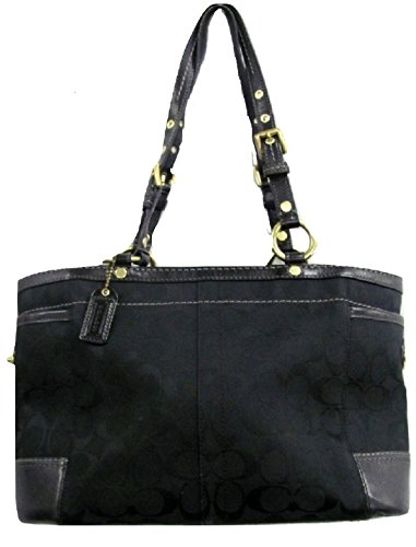 Coach Gallery Black Leather Tote Bag - 1