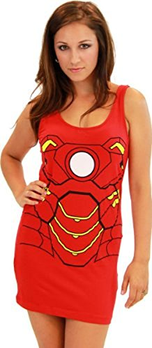 Iron Man Red Juniors Costume Tunic Tank Dress (Juniors X-Large) ()