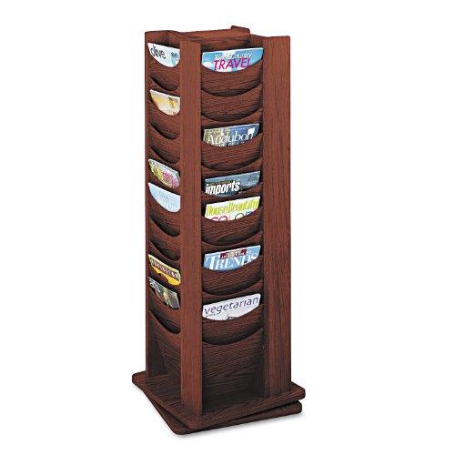 Safco Products 4335MH Solid Wood Rotating Display, 48 Pocket, Mahogany (Base Display Safco)