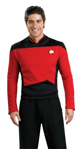 [Star Trek the Next Generation Deluxe Red Shirt, Adult Large Costume] (Star Trek Uniform Shirts)