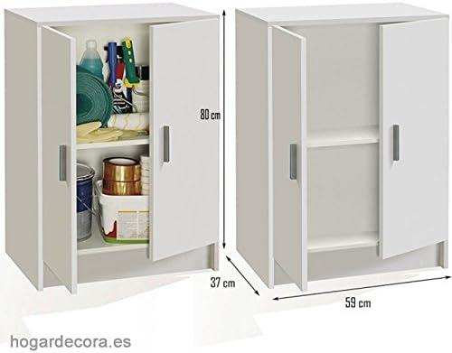 Armoire Basse Blanc Dimensions 60 Cm Largeur X 80 Cm Hauteur X 37 Cm Fond Amazon Fr Cuisine Maison