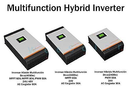 Inversor Multifunción onda pura 3000VA 24V 50Amp Cargador 30Amp 3 En 1: Amazon.es: Electrónica