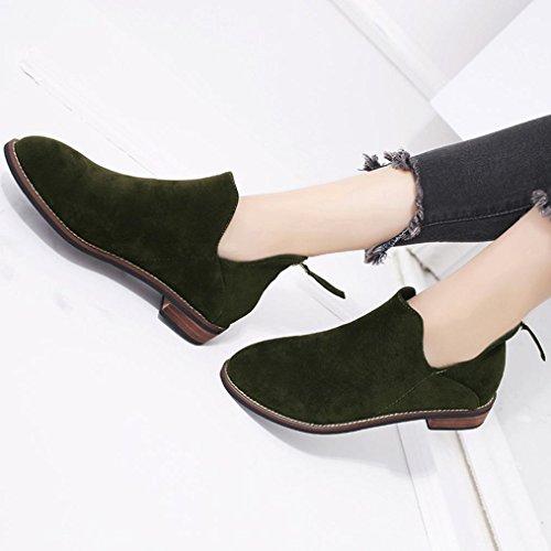 Bottines Boucle beauty Beautytop Femme Classiques Faux Top Dames Chaussures Solide Vert De Zip Martin Femme Femmes Neige Bottes 4nAnwPx8r