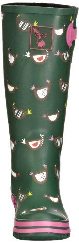 Evercreatures Chicken Tall - Botas de agua, color: verde verde - Green Print