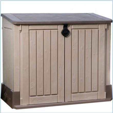 Plastic Outdoor Storage, Shed – 30-Cu.Ft., Color Beige Taupe