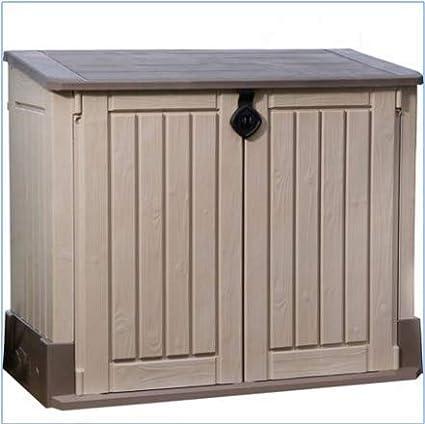 Outdoor Plastic Garden Storage shed for All Garden Accessories and Equipment Garden Furniture,Beige Storage shed