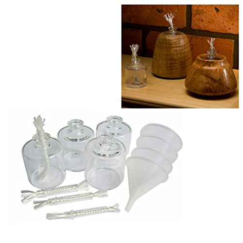 Confetti Lamp - Legacy Woodturning, Confetti Lamp Insert Project Kit, 4 Pack Finish