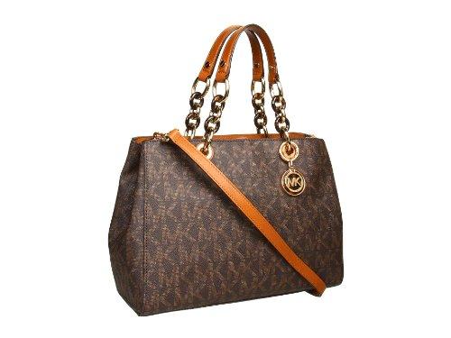 b0260ef98e6e ... Michael Kors Cynthia Medium Satchel Sig PVC Womens Handbag - Buy Online  in Kuwait. michael ...