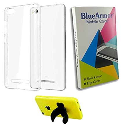 new arrival 6a2d6 9596a BlueArmor Soft Silicone Back Cover Case For Xolo Era X - Transparent &  Silicone Stand