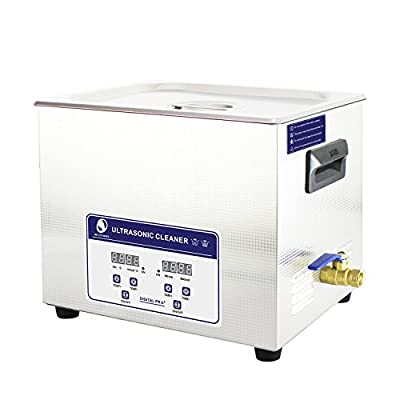 Skymen 10L Ultrasonic Cleaner Machine with Heater Timer for Jewelry, Dental, Guns & Gun Parts, Car Parts & Carb, Hospital Medical Equipment/Devices Cleaning
