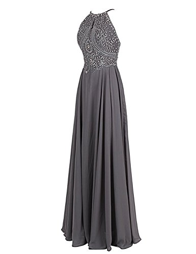 ASBridal Gowns Peach Backless Womens Evening Long Prom Straps Chiffon Formal Beading rYvqrCRx