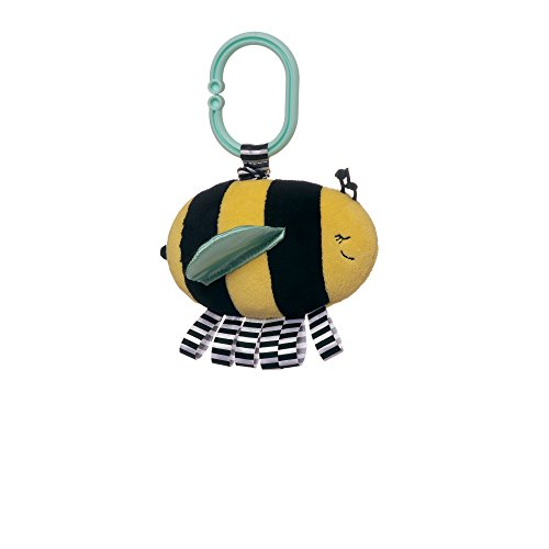 Bumble Bee Rattle - Manhattan Toy Cactus Garden Jet Bpa-Free Baby Toy with Jiggle Pull