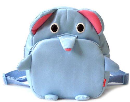 f-eshion Kinder Cartoon Leder Tasche Infant Pack Rucksack erdbeere Klein elefant