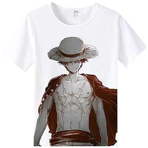 FunStation Tee for Anime One Piece Cosplay Costume T-Shirt 01 S]()