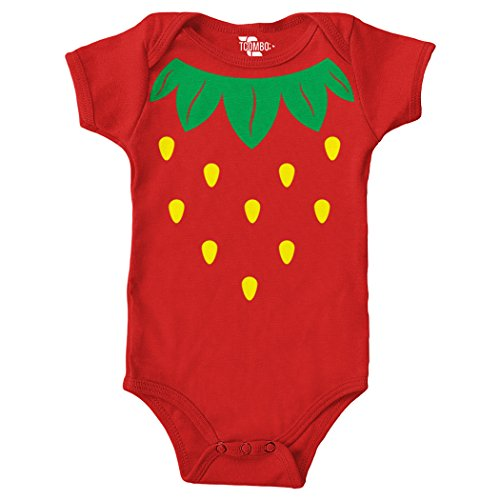 Tcombo Strawberry Costume Bodysuit (Red, 24 Months) -