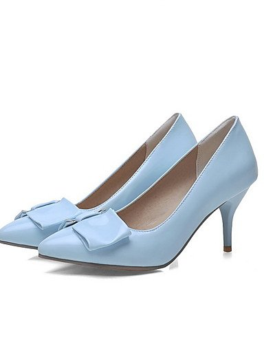 GGX/Damen Pull auf Patent Leder Spitz geschlossen Zehen spikes-stilettos pumps-shoes blue-us3.5 / eu33 / uk1.5 / cn32