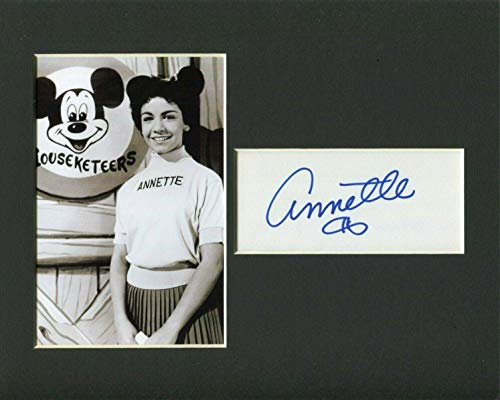 Annette Funicello Disney Star Mickey Mouse Club Signed Autograph Photo Display