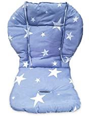 Twoworld High Chair Cushion, Large Thickening Baby Stroller/Car/High Chair Seat Cushion Liner Mat Pad Cover Protector Breathable (Blue Star)