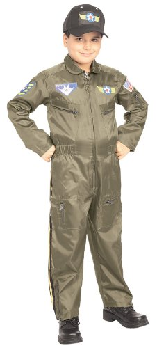 Rubie's Costume Co Air Force Fighter Pilot Costume: Toddler's Size 2-4 Brown