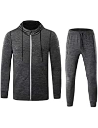 Men's Casual 2 Pieces Activewear Full Zip Sports Sets Jacket & Pants Sweat Tracksuit Set