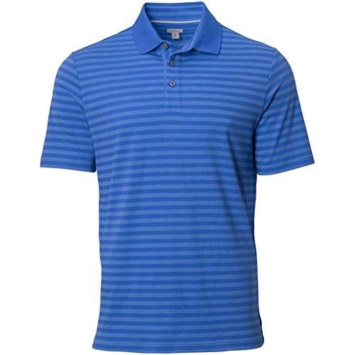 Ashworth Knit Shirt (Ashworth Mens Heather Stripe Polo Blue)