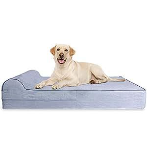 Amazon.com: Kopeks – Cama ortopédica de perro con espuma de ...