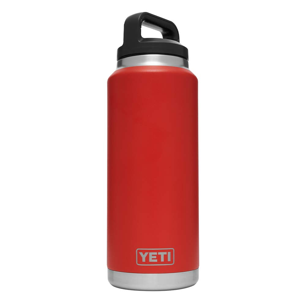 YETI Rambler 36 oz Stainless Steel Vacuum Insulated Bottle with Cap, Canyon Red
