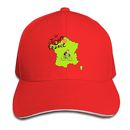 Bang Cycling Tour De France 2016 Roadmap Sandwich Baseball Cap Hats Red