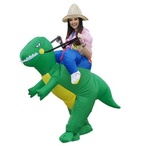 Self Made Costumes Halloween (Inflatable Dinosaur Unicorn Riding on Animal Halloween Costume for Adult)