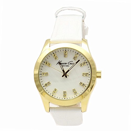 Kenneth Cole New York Three-Hand Leather - White Women's watch #KCW2024