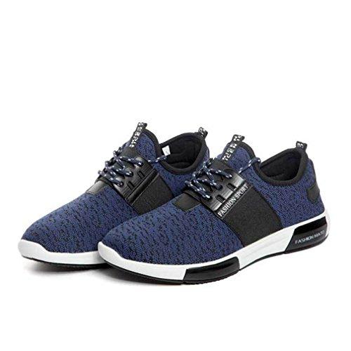 Homme chaussure de sport sneakers chaussure de course running jogging fitness trial athlétique basket mode légère Rouge ppE2lW