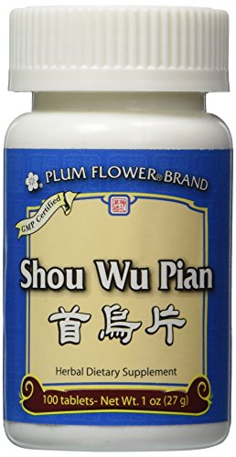 Shou Wu Pian, 100 ct, Plum Flower