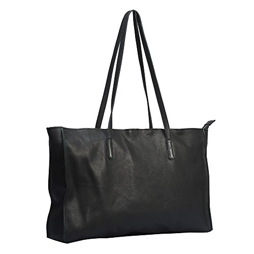 """Vilenca """"40720 Nero"""" Signore borsa a tracolla, borsa di cuoio per le donne, Dimensioni- L44cmxH27.5cmxW9.5cm �?"""