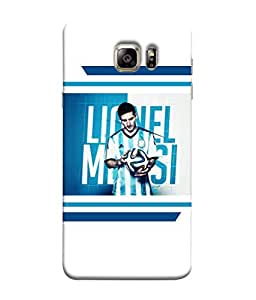 ColorKing Football Messi Argentina 05 White shell case cover for Samsung S6 Edge Plus