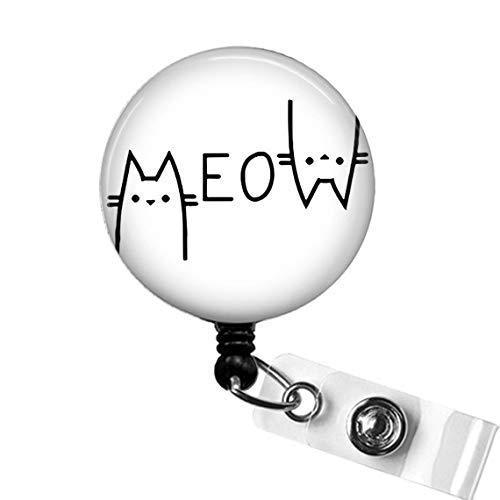 Cat ID Badge Reel Funny Nautical Cat Badge Holder Nurse Badge Clip Retractable