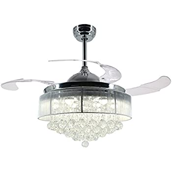 Deco Brushed Nickel Finish Pull Chain Ceiling Fan Light