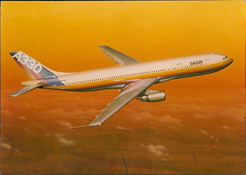 (Vintage photo of Airbus A330 Wide-body jet airliner )