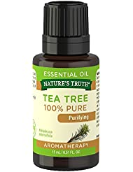 Nature's Truth Aromatherapy 100% Pure Essential Oil, Tea Tree, 0.51 Fluid Ounce
