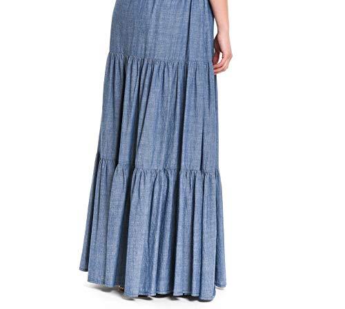 Bleu ROGER'S ROY Femme GONNA200CHAMBRRAYSW Jupe Coton qZfdtw