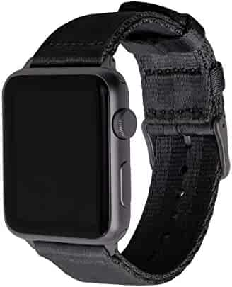 Archer Watch Straps Seat Belt Nylon Watch Bands for Apple Watch (Black, Space Gray, 42mm)