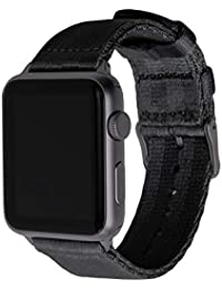 Seat Belt Nylon Watch Bands for Apple Watch (Black, Space Gray, 42mm)