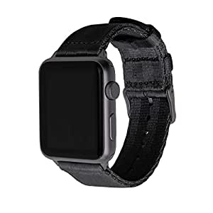 Archer Watch Straps Seat Belt Nylon Watch Bands for Apple Watch (Black, Space Gray, 38mm)