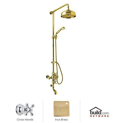 Rohl AC414X-IB Cisal Shower System with Exposed Thermostatic Valve, Shower Head, Inca Brass - Brass Cisal Cisal Shower