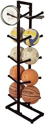 Exttlliy Double Sided 5-Layer Metal Basketball Storage Rack Sports Ball Organizer for Basketball Volleyball Football / Exttlliy Double Sided 5-Layer Metal Basketball Storage Rack Sports Ball Organizer for Basketball Volleyball Foot...