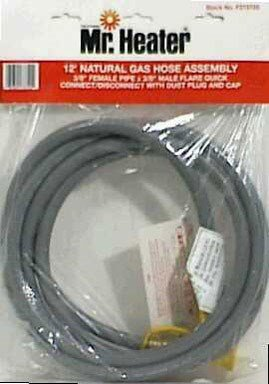 Mr. Heater 12 Foot Natural Gas and Propane Gas Hose Assembly 3/8' Female Pipe Thread x 3/8