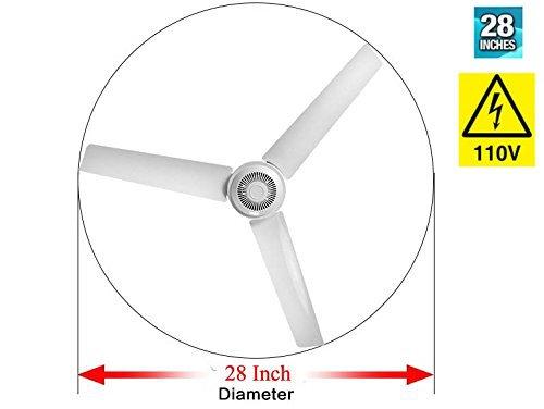 28'' Inch 110V AC electric Ceiling Fan Energy Saving Indoor Ceiling Fan Outdoor gazebo ceiling fan by sunlar (Image #5)