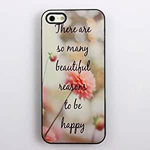 JAJAY ships in 48 hours sold out To Be Happy Design Aluminum Hard Case for iPhone 5/5S