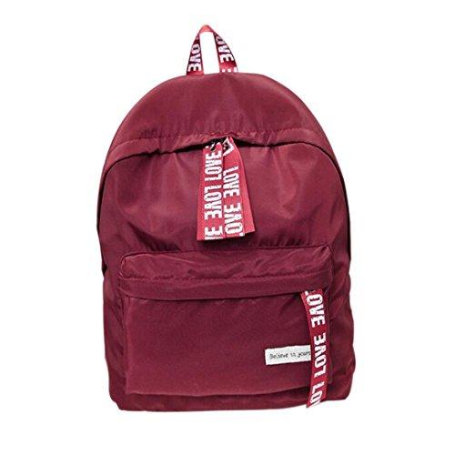 2018 Girls Boys Letter School Bag Travel Backpack Satchel Shoulder Rucksack for Women by TOPUNDER