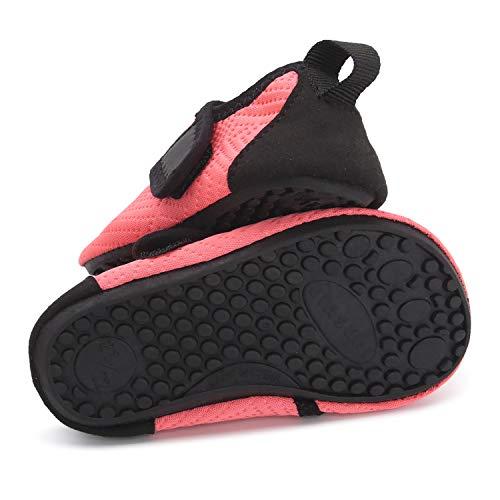 L-RUN Baby Water Shoes Barefoot Skin Aqua Sock Swim Shoes for Beach Swim Pool